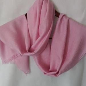 Gucci Pink Gg Wool Silk  Scarf Shawl Wrap